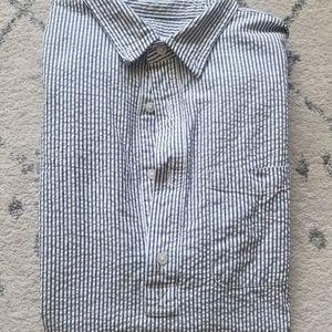 Slim Seersucker Shirt (short sleeve)